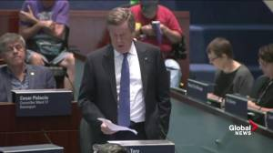 Mayor Tory, Toronto city hall debate potential legal challenge on council cuts