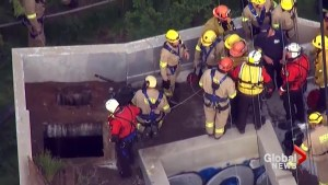 Rescue workers find missing teen 'alive and talking' after 25 feet fall into sewage system