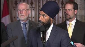 Singh won't respond to Notley's comment that he was wrong about Kinder Morgan