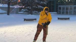 Ontario man skates for nearly 20 hours straight in Winnipeg