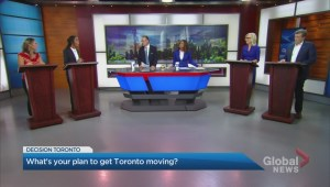 Toronto mayoral candidates go head-to-head in Global News debate