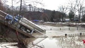 Bridge collapses in Port Bruce, Ont.