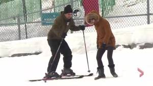 Skiers hit the slopes in Montreal