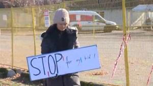 Marpole modular housing protest
