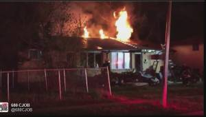 Raw video of house fire in Fort Garry early Friday morning