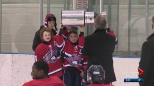 Global Edmonton MVP: Ethan Hughes embodies spirit of Stollery Family Day Classic (01:49)