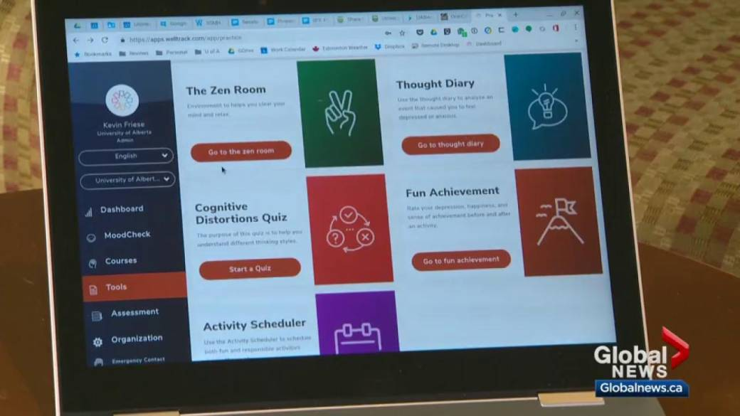 University Of Alberta Students Get In Touch With Well Being Mental Health Through Welltrack App Globalnews Ca