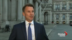 British Prime Minister Theresa May appoints Jeremy Hunt as new foreign minister