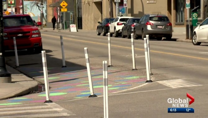 Colourful pilot project curbing speeding in Calgary community