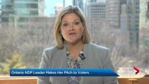 Ontario NDP leader makes her pitch to voters