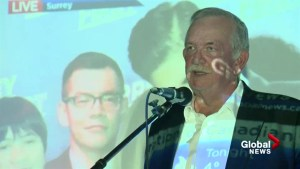 Derek Corrigan thanks supporters after election loss