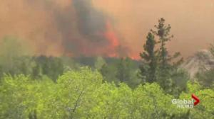 Holbein, Sask. wildfire burns out of control