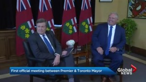 Doug Ford, John Tory meet to discuss Toronto's gun violence among other issues
