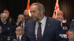 Trudeau showed 'total lack of experience' with F35 announcement: Mulcair