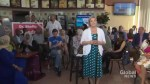 Liberal candidate crashes NDP Leader Andrea Horwath's event in Etobicoke