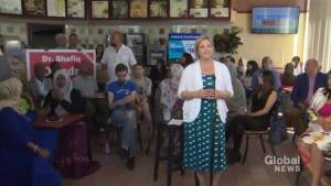 Liberal candidate crashes NDP Leader Andrea Horwath's event in Etobicoke (02:02)