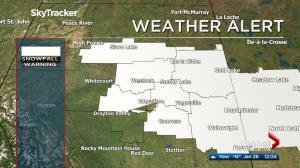 Global Edmonton noon weather forecast