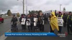 Canada Post couriers in Oshawa, Pickering on strike