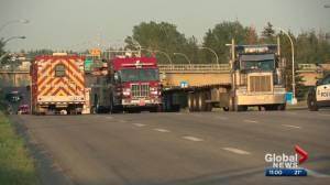 Police investigate fatal crash on Yellowhead Trail (01:19)