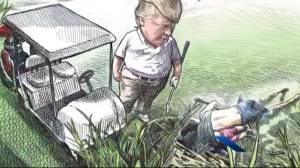Canadian artist mocks Trump, gets fired, profile plumped