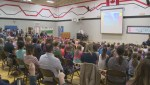 Group of Kelowna students pays tribute to first responders who worked on wildfire in a small community east of the city