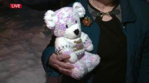 Edmonton woman knits dozens of teddy bears for Give Me Shelter campaign