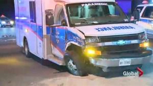 Ambulance crash in Mississauga