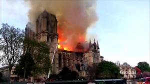 Fire at Notre Dame Cathedral under control, Paris firefighters say