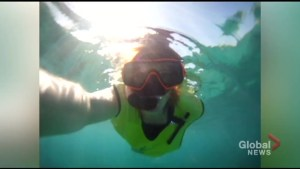 Snorkeling on the reef at Sandals South Coast in Jamaica