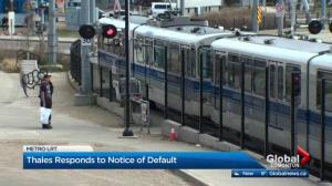 Thales responds to City of Edmonton, says progress being made on Metro Line