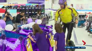 Sadie's 3-minute shopping spree at Toys R' Us