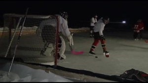 Omemee family make outdoor rink a winter tradition