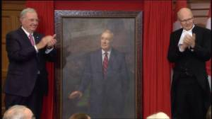 Official unveiling of Paul Martin portrait alongside other Prime Minister's