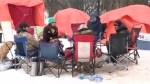 Campers still outside the Saskatchewan Legislative Building calling for change
