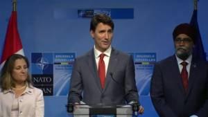 Trudeau touts Canada's military commitment to NATO