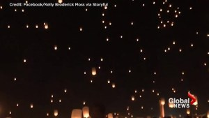 Night sky fills with lanterns to honour Las Vegas shooting victims