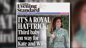 Duchess Kate pregnant with third child