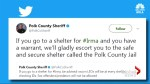 Florida sheriff says anyone with outstanding warrants will be arrested at Hurricane shelters