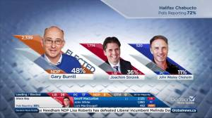 Nova Scotia election: NDP leader Gary Burrill elected in Halifax Chebucto (02:18)