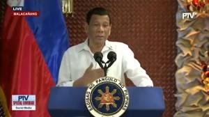 Philippines' Duterte 'jokes' about using marijuana to stay awake