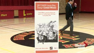 Taber student wins design contest, will see message printed on 1 million liquor bags in Alberta