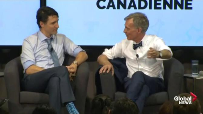 Justin Trudeau, Bill Nye talk pipeline politics, Kinder Morgan in post-budget meeting