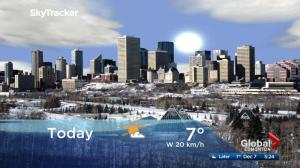 Edmonton early morning weather forecast: Thursday, December 7, 2017