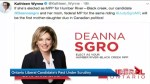 Ontario Liberal Party stands by Deanna Sgro