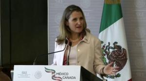 Freeland: Canada, Mexico agree that NAFTA must be a 'trilateral agreement'