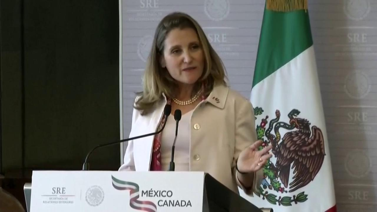 In 'no rush' to complete deal to rewrite NAFTA
