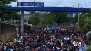 Trump confident migrant caravan won't enter Mexico-Guatemala border