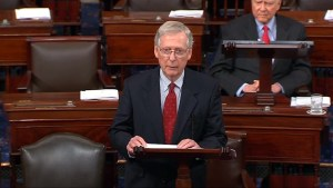 Mitch McConnell accuses Democrats of 'trying to destroy' Brett Kavanaugh