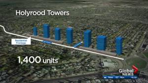 Controversial Holyrood highrise development debated at Edmonton city hall