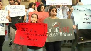 Protesters in Georgia say 'no' to Russia